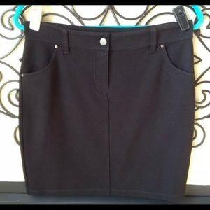 eileen fisher black stretch skirt size 6